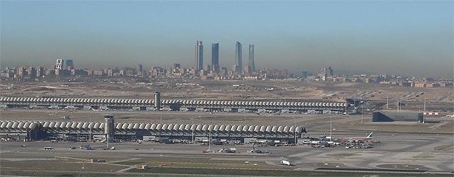 Una vista de un Madrid con el aire contaminado.