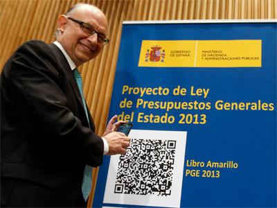 Cristobal Montoro durante la presentación de los Presupuestos Generales del Estado. REUTERS