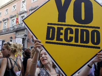 Manifestación en Madrid, el pasado 21 de junio, contra la reforma de la Ley del Aborto. EFE.