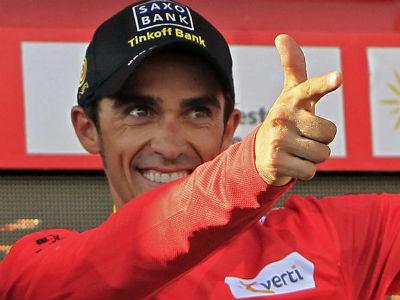 El ciclista del Saxo Bank Alberto Contador.