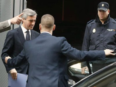 Acebes sale de la Audiencia Nacional tras declarar el pasado 23 de noviembre/EFE