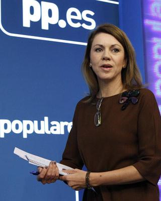La presidenta de Castilla-La Mancha, María Dolores de Cospedal. EFE