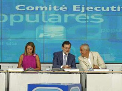 Dirigentes de la cúpula del PP.