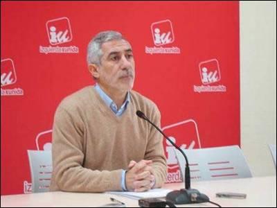 Gaspar Llamazares, esta mañana. EP