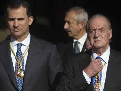 El rey Juan Carlos y el príncipe Felipe en una foto de archivo. EFE