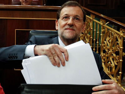 El presidente del Gobierno, Mariano Rajoy, durante su última sesión de control.