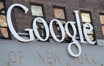 Cartel en la sede de Google en Nueva York. EFE