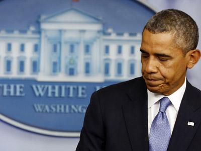 El presidente de EEUU, Barack Obama, durante la conferencia de prensa para anunciar la falta de acuerdo. REUTERS