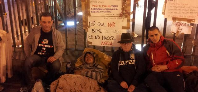 Protestantes se suman a la huelga de hambre