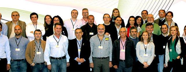 Algunos integrantes de la Coalición Extremeña. En el centro, con barba blanca, Estanislao Martín.