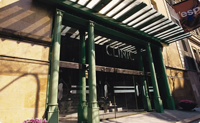 Fachada del Hospital Clínic de Barcelona. EP