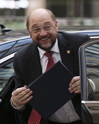 El presidente del Parlamento Europeo, Martin Schulz, a su llegada a Bruselas.