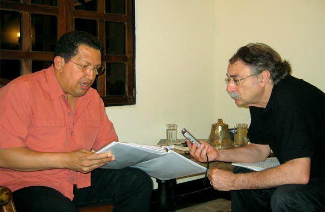 Hugo Chávez durante una de las entrevistas con Ignacio Ramonet.