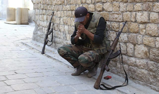 Un combatiente del Ejército Libre Sirio.