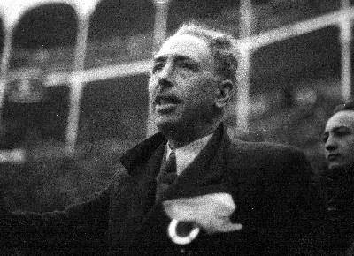 Lluís Companys, en un discurso en la plaza de toros de Madrid, en 1938.