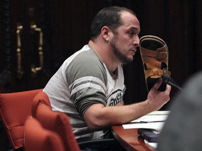 David Fernández, diputado de la CUP que ha mantenido un tenso diálogo con Rodrigo Rato.