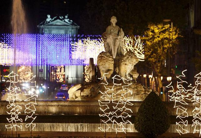 Madrid, iluminado por Navidad