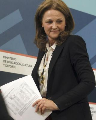 La secretaria de Estado de Educaci�n, Montserrat Gomendio, esta tarde, en el Ministerio. EFE/F.Alvarado