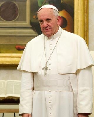 Imagen del papa Francisco en el Vaticano.