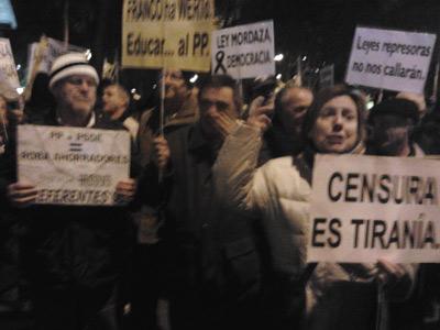 Cientos de personas, en la manifestación.