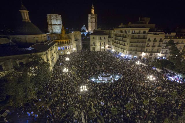 manifestación convocada por el Comité de Empresa de RTVV en Valencia. BIEL ALIÑO (EFE)
