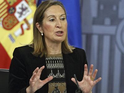La ministra de Fomento, Ana Pastor, durante la rueda de prensa posterior al Consejo de Minsitros.