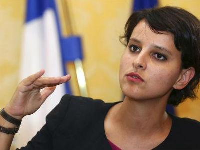La ministra francesa para los Derechos de las Mujeres, Najat Vallaud-Belkacem. Archivo EFE.