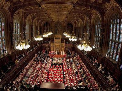 Cámara de los Lores, en el Palacio de Westminster, imagen de archivo.EFE.