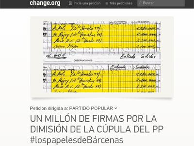 La petición en Change.org