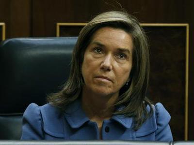 La ministra de Sanidad, Ana Mato, durante la sesión de control al Gobierno, esta mañana en el Congreso de los Diputados. -EFE