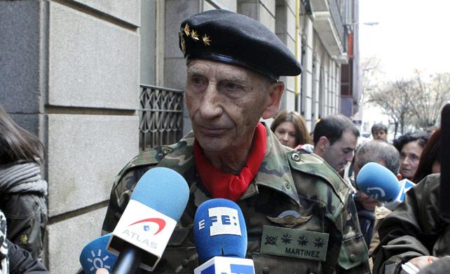 El exmilitar Amadeo Martínez Inglés a su llega a la Audiencia Nacional el pasado miércoles-