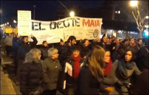 'La deuda mata' gritan en Barcelona. -MD