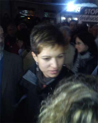 Beatriz Talegón en la manifestación.
