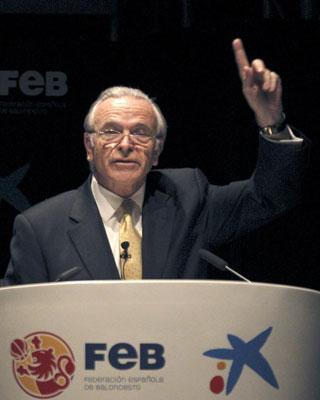 El presidente de La Caixa y de CaixaBank, Isidro Fainé, en un acto hace unos días. EFE/Kote Rodrigo