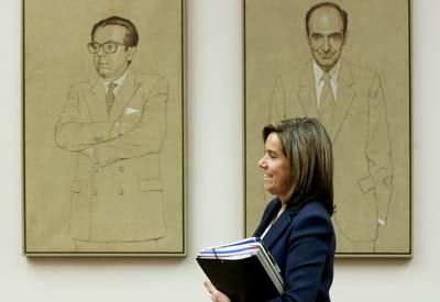 La ministra Ana Mato a su llegada a la Comisión de Sanidad.