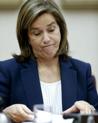 La ministra de Sanidad, Ana Mato, esta tarde, en el Congreso de los Diputados. EFE