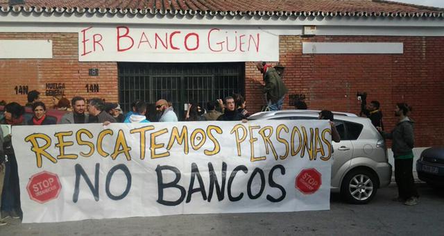 Comedor social en Málaga impulsado por el 15-M y la PAH.