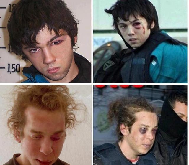 Fotografías de los detenidos.