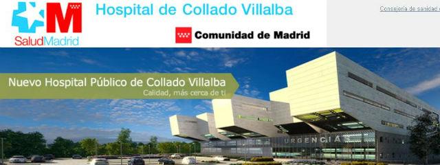 Imagen del hospital Collado Villalba publicada en la página web de la Comunidad de Madrid.