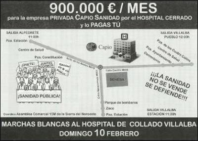 Cartel con la convocatoria de manifestación, el próximo domingo. (Afem)