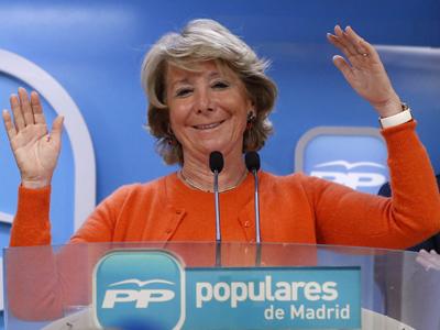 La presidenta del PP madrileño, Esperanza Aguirre. EFE