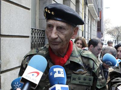 El exmilitar Amadeo Martínez Inglés a su llega a la Audiencia Nacional el pasado febrero. EFE