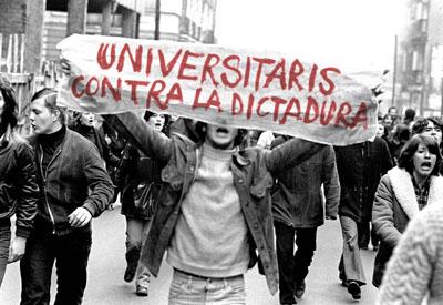 Manifestación por la amnistía. Madrid, 1977.