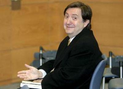 Federico Jiménez Losantos en el juzgado antes de ser condenado por injurias a ERC