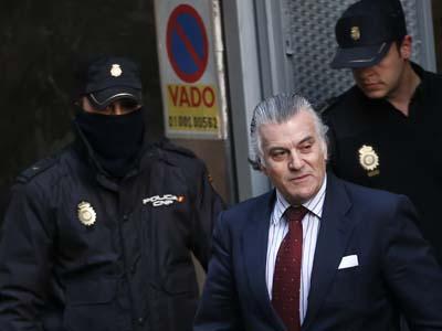 El extesorero del PP, Luis Bárcenas, tras declarar en la Audiencia Nacional el pasado 25 de febrero.