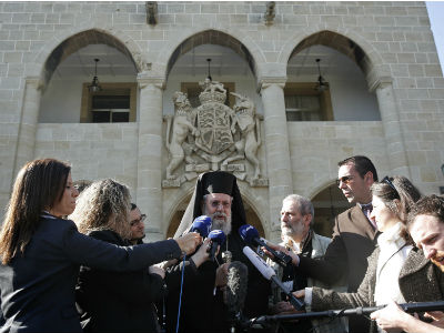El arzobispo de Chipre, Chrysostomos II. -REUTERS