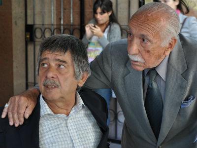 El abogado Carlos Slepoy y Darío Rivas, uno de los primeros querellantes contra los crímenes franquistas. A.D.