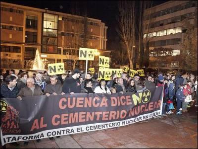 Protesta de la Plataforma contra el Cementerio Nuclear en Cuenca. EFE