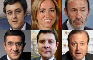 Seis nombres para<br> el futuro del PSOE