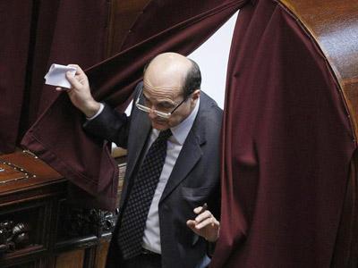 Pier Luigi Bersani durante la sexta votación para elegir presiedente de la República. EFE